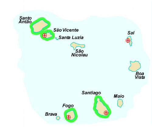 Map of our walking Holidays in Cape Verde