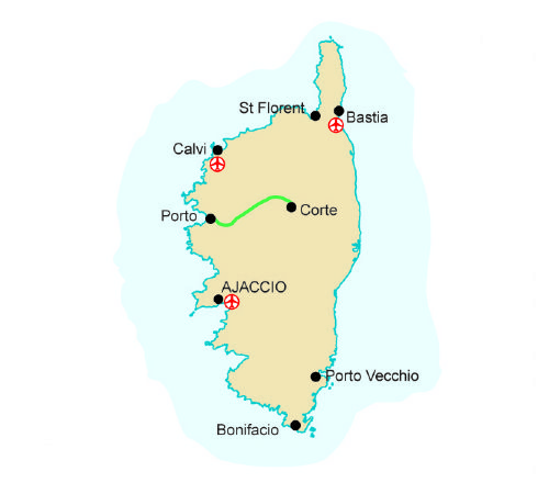Map Of France And Corsica.France Corsica More Information New Experience Walking Holidays
