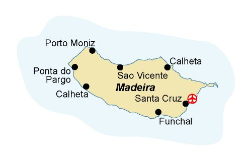 Map of our walking Holidays in Portugal - Madeira