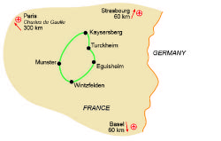 Map of our walking Holidays in France - Click here to find out more about France