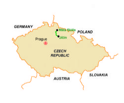 Map of our walking Holidays in Czech Republic - Click here to find out more about Czech Republic