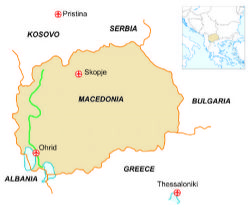 Map of our walking Holidays in Macedonia - Click here to find out more about Macedonia