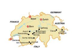Map of our walking Holidays in Switzerland - Click here to find out more about Switzerland