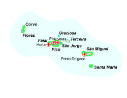 Find Walking Holidays In Portugal Azores - Portugal map azores