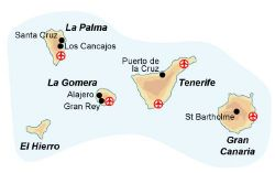 Map of our walking Holidays in Spain - Canary Islands - Click here to find out more about Spain - Canary Islands