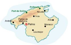 Map of our walking Holidays in Spain - Balearic Islands - Click here to find out more about Spain - Balearic Islands