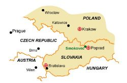 Map of our walking Holidays in Slovakia - Click here to find out more about Slovakia