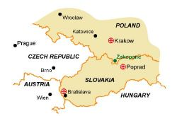 Map of our walking Holidays in Poland - Click here to find out more about Poland